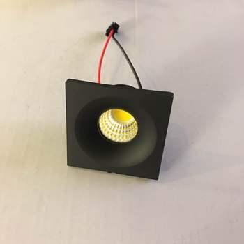 4pcs/lot  LED Mini Cabinet Downlight 3W diameter 40mm dc12v black Frame Recessed Ceiling No Flicker Spot Lights For Home