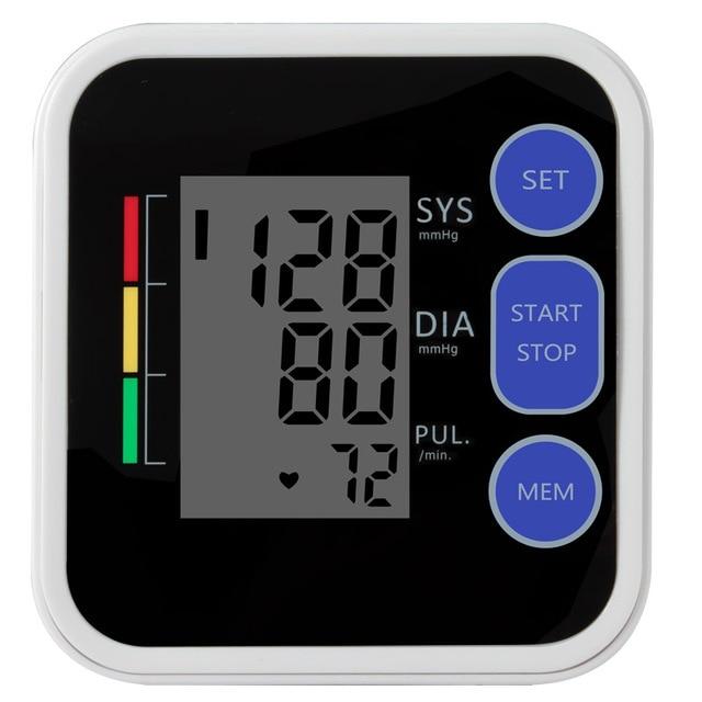 Cigii Upper Arm blood pressure Pulse monitor LCD Portable Home Health Care 1pcs Digital Tonometer Meter Pulse oximeter 1