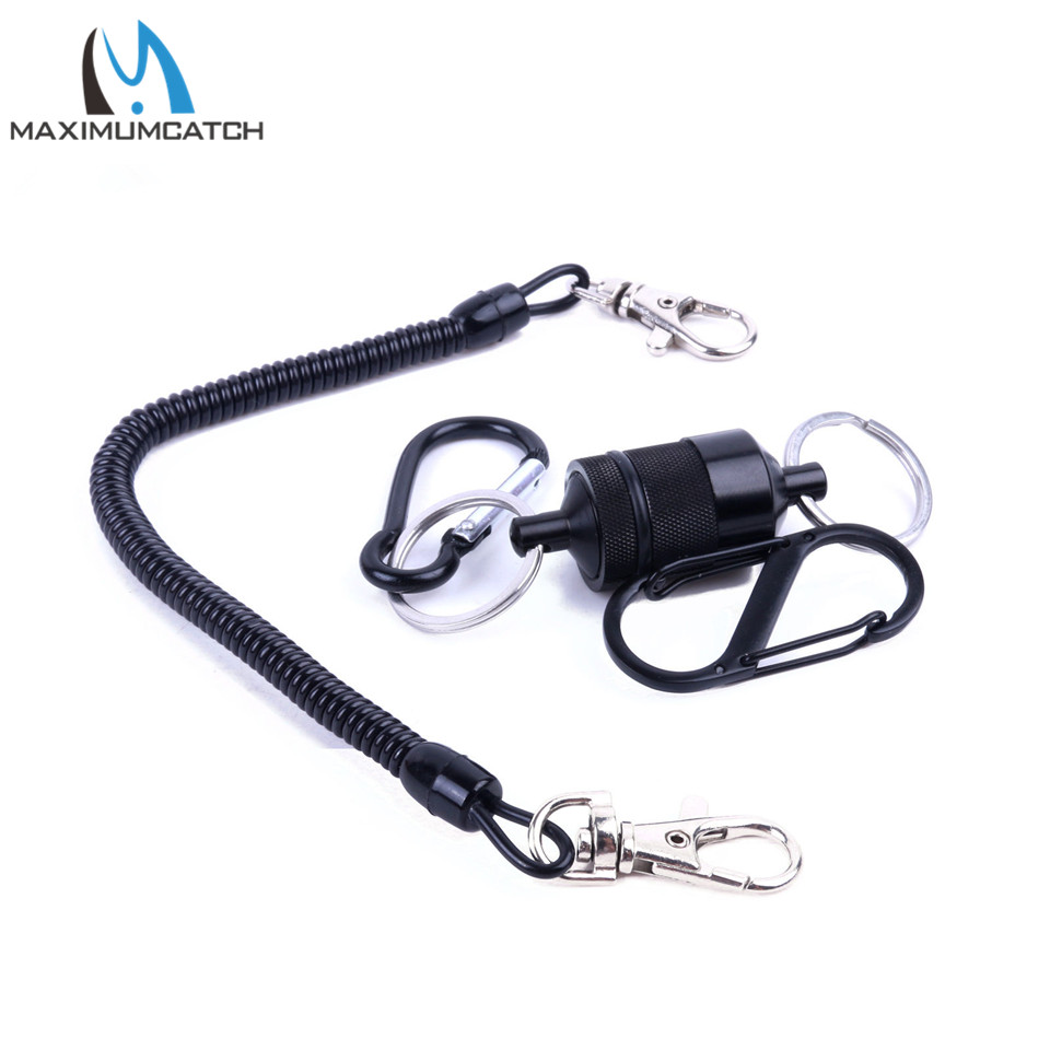 Maximumcatch High Quality Magnetic Fly Fishing Tool Magnetic Net Release z kablem sieciowym