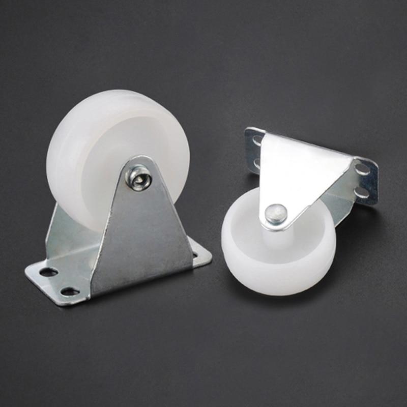 2Pcs Myhomera 30-15KG Load Swivel Casters Furniture Wheel Castor PP Nylon Roller Wheels 1.6'' /1.4