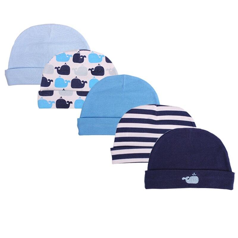 2019 Mode Heißer Verkauf Baby Bambus Caps 3/5-pack Für Jungen Mädchen, Neugeborenen Fotografie Zubehör Jungen Hüte Infant Caps, 0-3 Monate