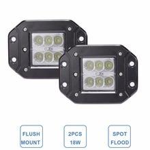 18 Вт заподлицо LED свет работы 12 В 24 В сзади туман лампа 4×4 внедорожный Прицепы грузовик ATV автомобиль пикап трактор внедорожник бампер свет работы бар