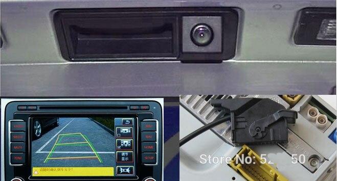 RGB Handle Rear View Reversing Camera RVC Hatch for VW Golf Plus Jetta MK5 5 MK6 VI Tiguan Passat B7 RNS510 RCD510 56D 827 566A vw rgb rear view reversing camera rvc for golf plus jetta mk5 mk6 vi tiguan passat b7 rns510 rcd510 56d 827 566a 16d 18d827566a