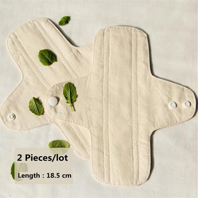 Panty Liners de higiene femenina reutilizables almohadillas menstruales de tela almohadillas de algodón lavable transpirable Anti-alergia 18,5 Cm