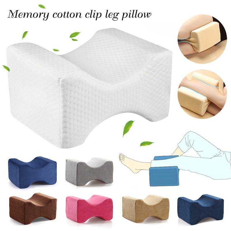 La rodilla de espuma de memoria almohada para dormir la ciática a la articulación de la cadera el alivio del dolor contorno muslo pierna soporte cojín