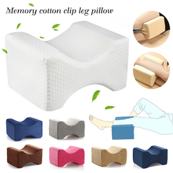 Memory Foam Knee Wedge Pillow for Sleeping Sciatica Back Hip Joint Pain Relief Contour Thigh Leg Pad Support Cushion