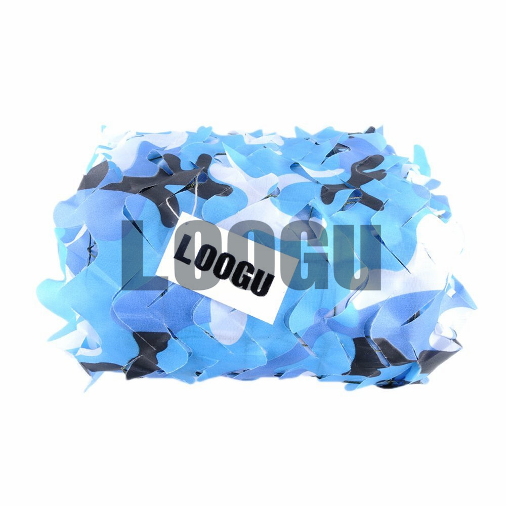 LOOGU EM 4M*5M Blue Camouflage net Sun Shelter Netting Cover for Beach Decoration Ocean Navy Camo Netting купить