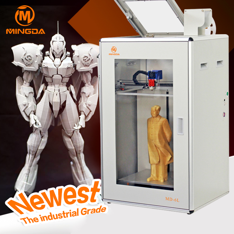 MINGDA MD-6C Large 3D Printer High Precision FDM 3D Printing Machine Industrial Grade Touch Screen FDM 3D Printer Machine lace up ribbed knit sweater