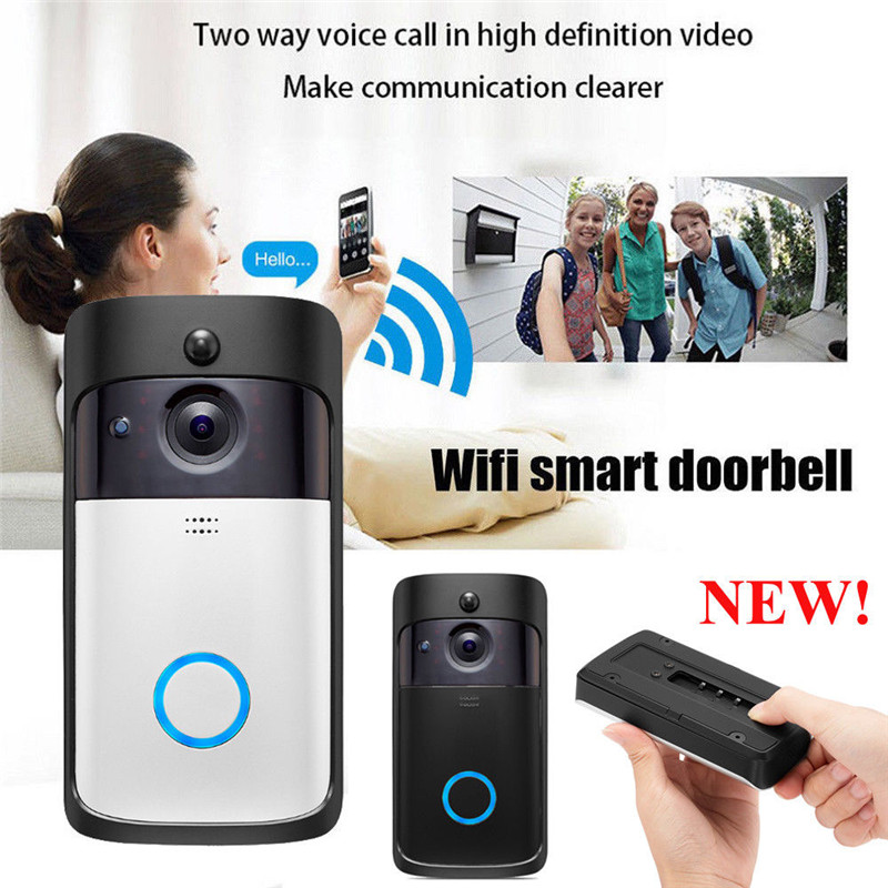 2019 HD 720P Smart Video Wireless WiFi Door Bell IR Visual Camera Record Security System2019 HD 720P Smart Video Wireless WiFi Door Bell IR Visual Camera Record Security System