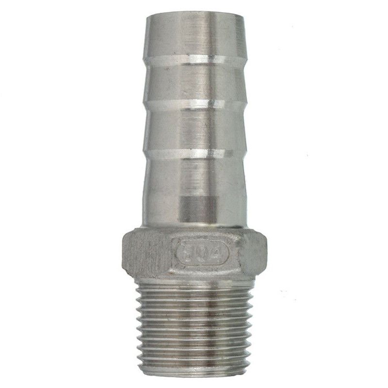 LIXF NPT stainless steel connector external thread barb hose nozzle Hose Measurement: 3/8 inch x 15mm