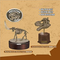 2 styles of app.15cm 2nd generation dinosaur skeleton model 3D puzzles 7666