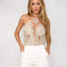 Women's Summer  Lace Crop Tops