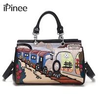 IPinee Printing Cartoon Women Shoulder Bag Italy Braccialini Handbag Retro Handmade Bolsa Feminina Famous Luxury Designer