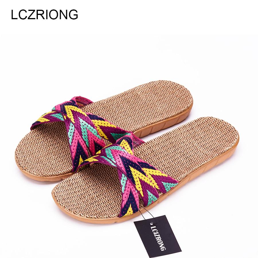 Nueva casa de verano zapatillas mujeres dormitorio interior zapatillas mujer 22 Gradient Color Plus Size playa zapatos planos las Zapatillas de casa