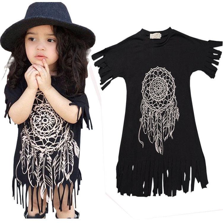 Dresses New Boho Baby Kids Children Girl Summer Clothing