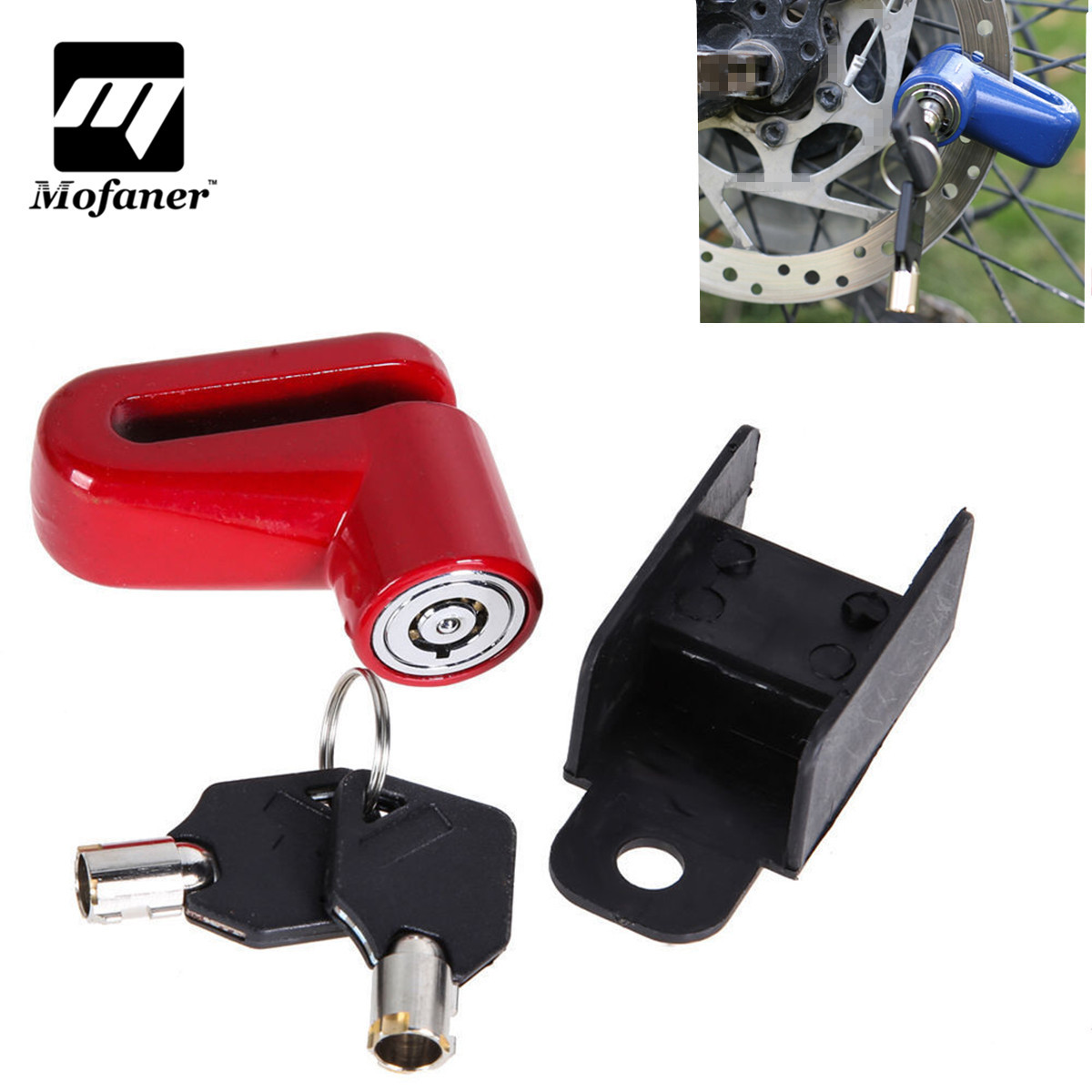 Mofaner Motorcycle Scooter Bicycle Disc Lock Anti-theft Disk Disc Brake Rotor Lock For Kawasaki For Honda