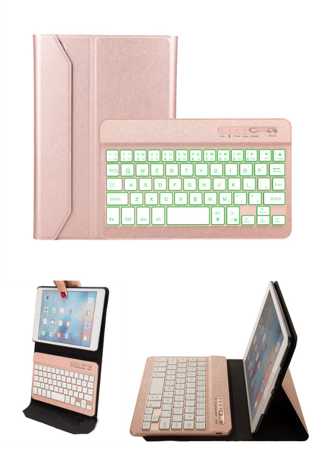 Backlit Wireless Bluetooth Keyboard Removable with Case Cover for iPad mini 4 XXM8 detachable official removable original metal keyboard station stand case cover
