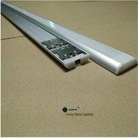 5-30 adet/grup 40 inç 1 m Led şeritler için kanal, çift sıra bant 26mm pcb led alüminyum profil, net/sütlü buzlu kapak bar