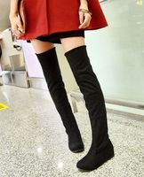 2016 New Women Boots Long Over The Knee Boots Fashion Plus Size Women Shoes 34 44