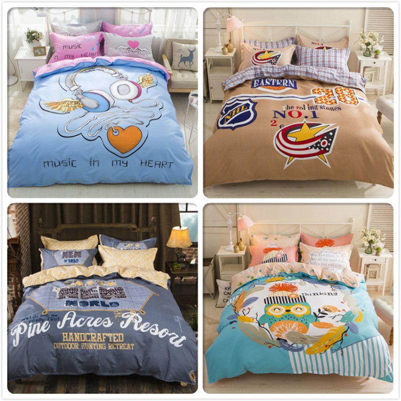 Lover Gift Twin Double Queen King Size Duvet Cover Bedsheet Pillowcase 3/4 pcs Bedding Set 1.5m 1.8m 2m Bedclothes Kids Bedlinen