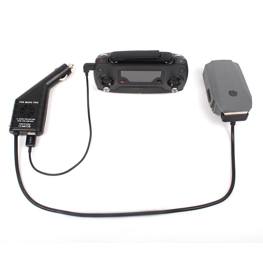 Новое поступление 2 в 1 автомобиль Зарядное устройство для Батарея и контроллер Зарядное устройство с USB Порты и разъёмы для dji Мавик <font><b>Pro</b></font> Platinum/ &#8230;