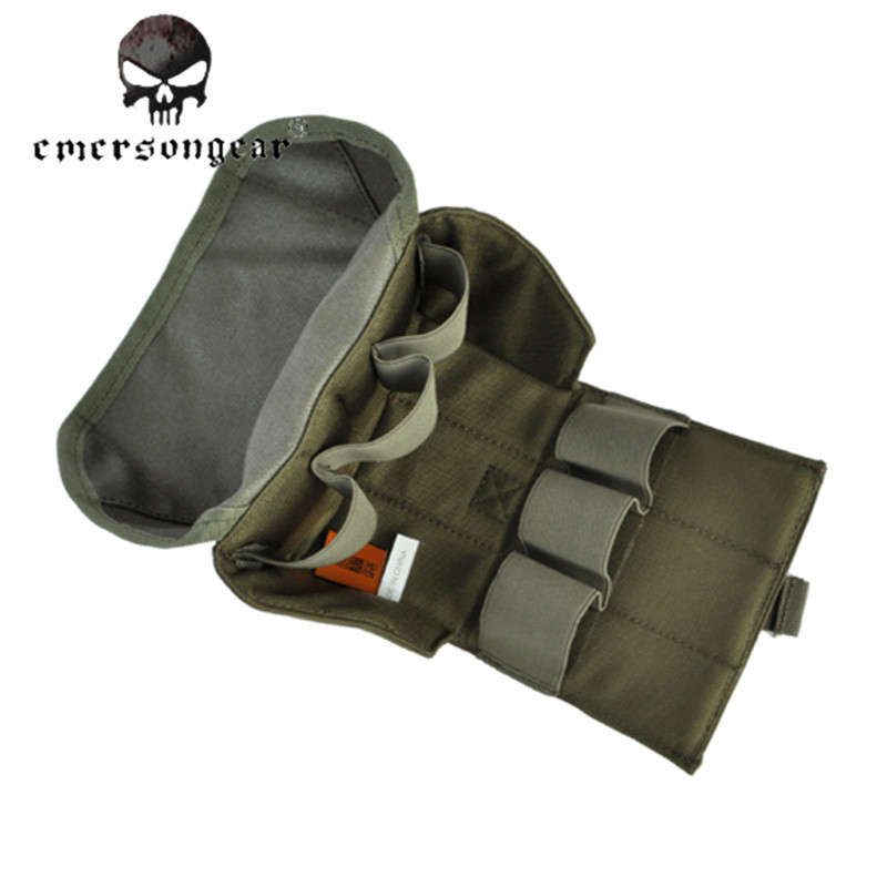 Emerson Combat Military Portable Tactical Molle Six-pack Grenade Pouch Outdoor Airsoft CS Wargame Paintball Accessories Drop Bag emerson 1000d nylon durable portable adjustable military tactical secret underarm pouch outdoor hunting camping accessory bag