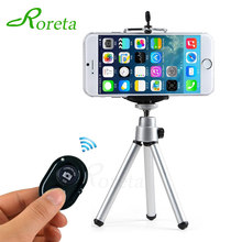 Roreta Mobile Phone mini tripod Stand Bluetooth Remote monopod tripods For mini Digital Camera tripod Phone Desktop Holder(China)