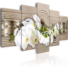 5 Pieces wall art hd print canvas oil orchid painting flower pictures for bedroom modern paintings