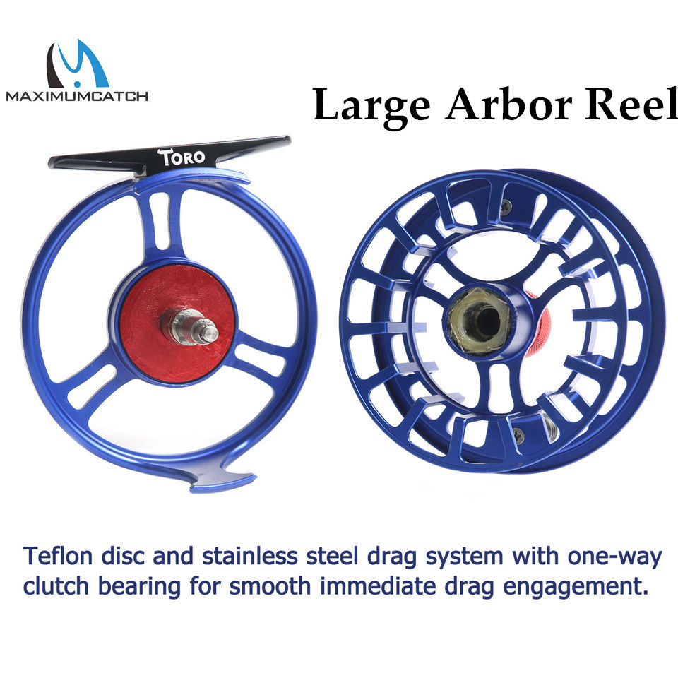 Maximumcatch High Grade TORO Fly Reel 3/4/5/6/7/8WT 6061-T6 Aluminum Blue Color Right Left-Handed Fly Fishing Reel maximumcatch hvc 7 8 weight exclusive super light fly reel chinese cnc fly fishing reel large arbor aluminum fly reel
