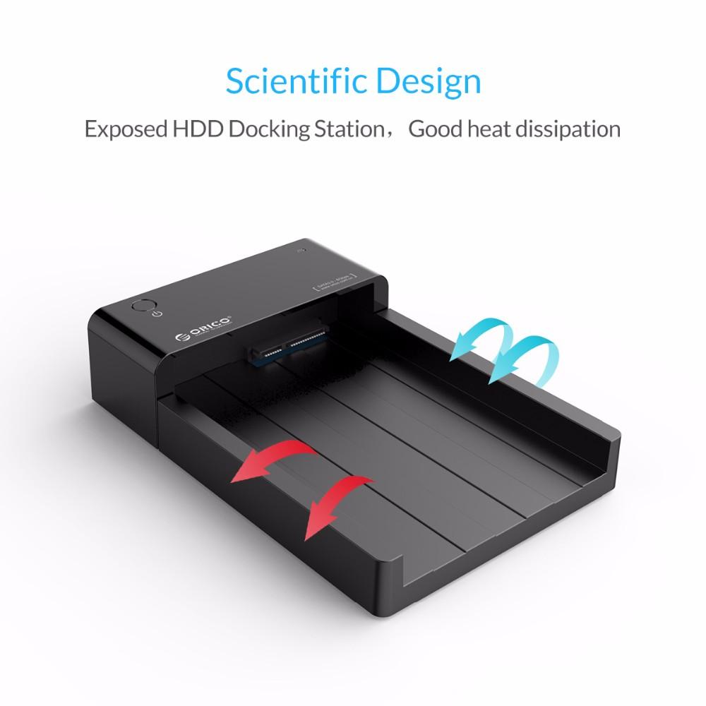 ORICO SATA to USB 3.0 2.5 /3.5 inch HDD Hard Drive Docking Station Enclosure BK 123