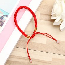 Free Shipping 1Pcs Men Women Good Luck Hand Braided Lucky Red String Rope Cord Bracelet Adjustable Wholesale(China)