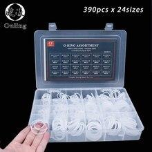 390pcs White Silicon O-Rings Rubber 24Sizes O-ring Set Gasket O Ring Silicone Seal Assortment Box Kit Good elasticity