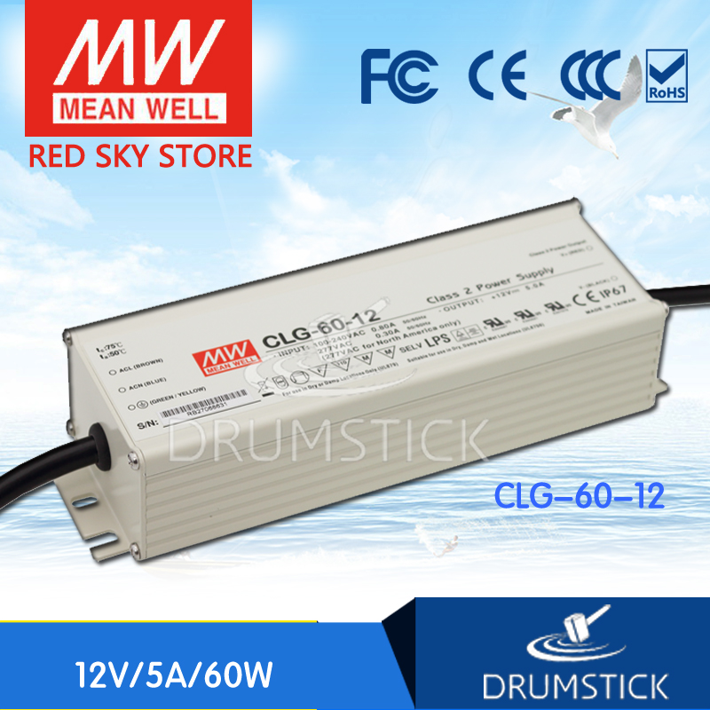 Advantages MEAN WELL CLG-60-12 12V 5A meanwell CLG-60 12V 60W Single Output LED Power Supply meanwell 12v 100w ul certificated clg series ip67 waterproof power supply 90 295vac to 12v dc