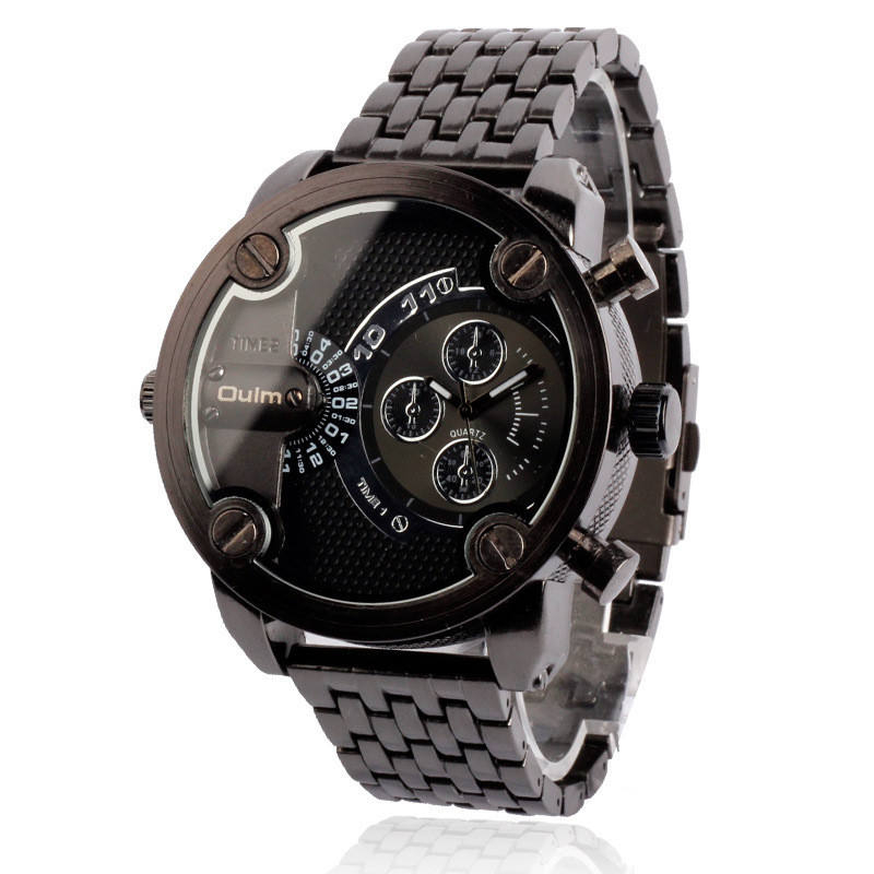 5cm Large relogio masculino Original Tag Design Brand OULM 3130 dz Watch reloj hombre Men Clock Big Montre Homme de Marque Luxe big face original oulm 9316b brand japan movt quartz dz watch large men dual time male imported reloj hombre relogio masculino