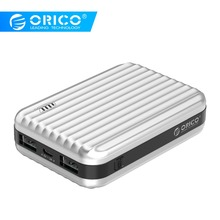 ORICO 10000mah External Battery 5V2A*2 Dual Output Power Bank With LED Indicator Charger Adapter for Mobile Phone loohon l208 portable 5600mah external battery charger w led indicator white