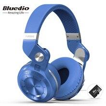 Bluedio T2+(турбина 2 апгрейд )  инновационный завёрнутый внутрь дизайн, Bluetooth беспроводные наушники с встроенным микрофоном, bluetooth 4.1, карт SD(32G)&FM, стереопроигрывание, большая совместимость,HiFi наушники
