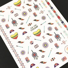 Newest CA-174 3d sticker nail decal stamping template Japan type DIY decorations for art