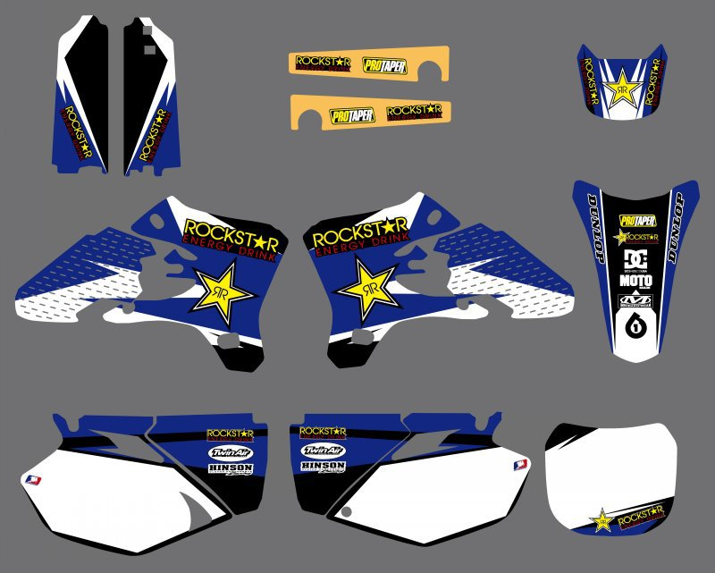 New Style Star Graphics Decals Stickers Kits For Yamaha YZ250F YZ450F YZF250 YZF450 YZF 250 450 YZ 250F 450F 2003 2004 2005 new abs plastic speedometer gauges tachometer instrument cover case for yamaha yzf r1 2002 2003 r6 2003 2004 2005