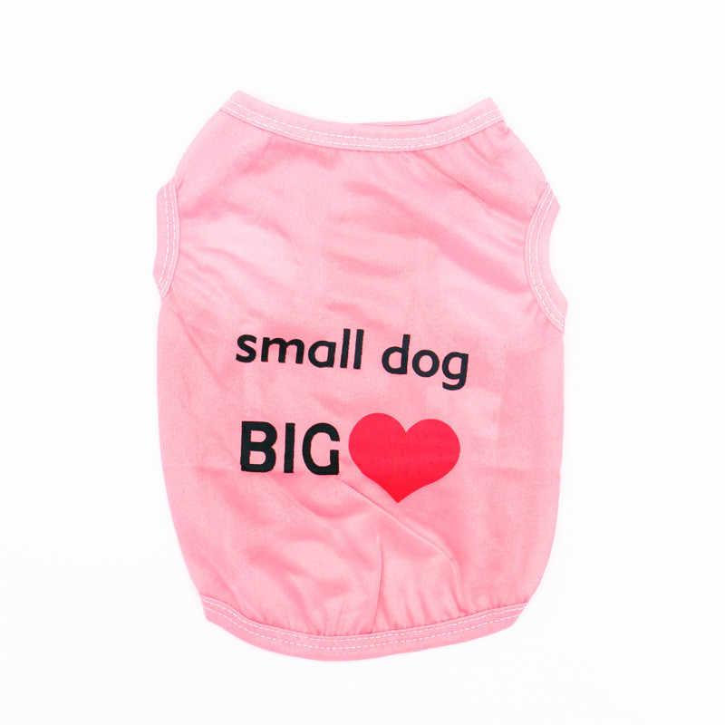 Simpatici animali domestici stampati estivi tshirt cucciolo di cane vestiti Pet Cat Vest t-shirt in cotone Pug abbigliamento costumi vestiti per cani per cani di piccola taglia