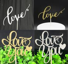 1pc Love Cake Topper Flag Multi Colors You Flags Double Stick For Wedding Birthday Party Baking Supplies