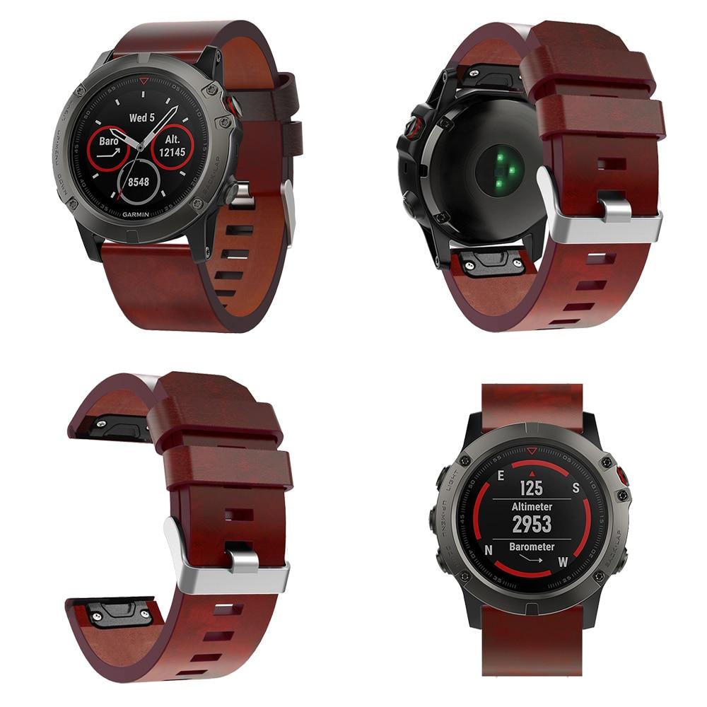 26 22MM Quick Release Easy Fit Luxury скураны папружка Замена лучезапястного сустава Для Fenix 5X 5X Plus 3 3ч Garmin Fenix 5 Watch