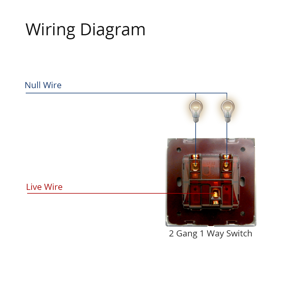 2 Gang 1 Way Light Switch Luxury Acrylic Panel With Silver Border Wiring Diagram 12
