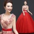 2016 Estilo Elegante Tulle Pescoço Da Colher Vestidos Quinceanera Estilo Vintage Sweet 16 Vestidos Com Mangas Vestidos de Debutante