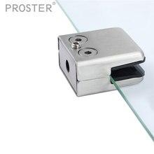 16 шт. квадратные стеклянные зажимы плоскость нержавеющая сталь Поддержка два отверстия крепежные скобы для 8 мм до 10 мм мебельная фурнитура