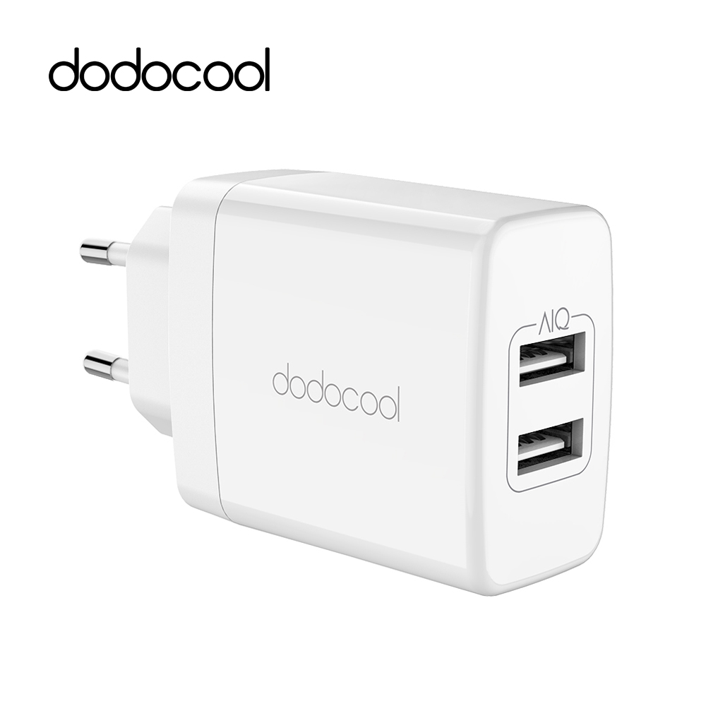 Dodocool 24w dual usb charger travel wall charger mobile for Iphone x portable charger