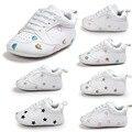 WONBO Marca New Chegar Baby First Walkers Do Bebê Fundo Macio Prewalkers Bebês Recém-nascidos de Moda Mocassim Sapatos de Couro PU Botas