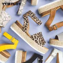 Sandalias con cuña para mujer, zapatos de tacón alto, sandalias de verano, chanclas para mujer, sandalias de plataforma para mujer, Sandalia femenina