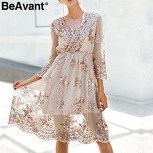 BeAvant vestido de verano de malla con bordado de lentejuelas, elegante, nuevo, 2018