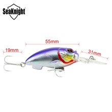 SeaKnight SK035 Crank Fishing Bait 13.5g 55mm 0-1.5M 1PC Floating Fishing Lure Wobbler Crank Bait Artificial Bait Fishing Tackle