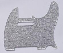 KAISH Silver Sparkle Tele Guitar Single Coil Scratch Plate Pickguard fits Telecaster
